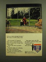 1965 PPG Herculite K Tempered Safety Glass Ad - Thrown