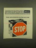 1965 Mead Packaging Cluster-Pak Ad - A Beer Carton