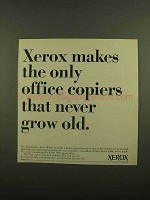 1965 Xerox Copiers Ad - Never Grow Old