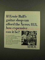 1965 Xerox 813 Copier Ad - Ernie Ball's Guitar Shop