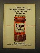 1965 Nestle's Decaf Instant Coffee Ad - Two Leading