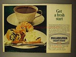 1965 Kraft Philadelphia Cream Cheese Ad - Fresh Start