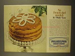 1965 Kraft Philadelphia Cream Cheese Ad - Torte