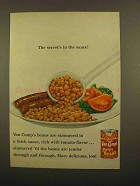 1965 Van Camp's Pork and Beans Ad - Secret's in Sauce