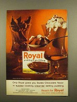 1965 Royal Chocolate Pudding & Pie Filling Ad - Quicker