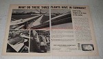 1965 The Southern Company Ad - Three Plants in Common