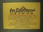 1899 Sapolio Soap Ad - An Education