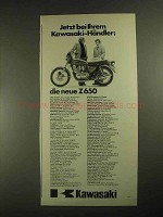 1977 Kawasaki Z650 Motorcycle Ad - in German - die neue Z650
