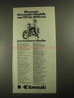 1977 Kawasaki Motorcycle Ad - in German