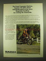 1972 Yamaha CS5 200cc Street Motorcycle Ad - Commuter