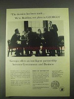 1967 Geogia Department of Industry & Trade Ad - Plant