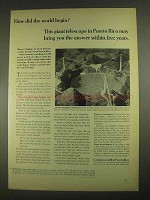 1967 Commonwealth of Puerto Rico Ad - Arecibo Telescope