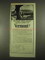 1967 Vermont Development Ad - Make Maple Syrup