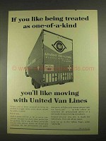 1967 United Van Lines Ad - If You Like Being Treated As