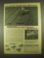 1967 Hesston Model 110 and PT-10 Windrower Ad