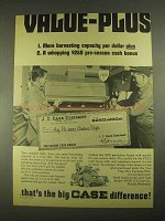 1967 Case 660 Combine Ad - Value-Plus