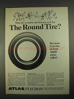 1967 Atlas Plycron Tire Ad - So Many Sportsmen Root For