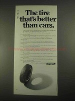 1967 Pirelli Cinturato CN 72 Tire Ad - Better Than Cars