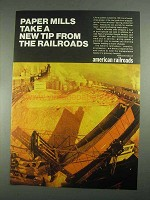 1967 Association of American Railroads Ad - Paper Mills