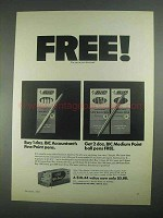1967 Bic Accountant's Fine & Medium Point Ball Pen Ad