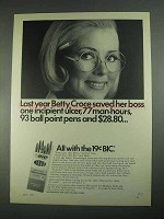 1967 BIC Medium Point Pen Ad - Betty Croce Saved