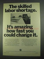 1967 Plans for Progress Ad - Skilled Labor Shortage