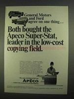 1967 Apeco Super-Stat Copier Ad - General Motors and Ford Agree