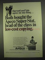 1967 Apeco Super-Stat Copier Ad - Harvard and Yale