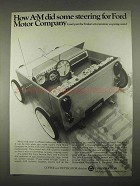 1967 A-M Copy Service Plan Ad - Steering For Ford