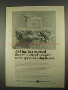 1967 A-M 2650 Copier Ad - Married The Simplicity