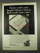 1967 Victor Electrowriter Ad - Sends Handwriting Fast