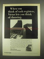 1967 Victor Comptometer Corporation Ad - Cash Registers