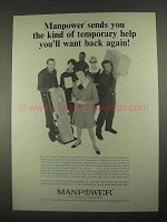 1967 Manpower Temporary Help Ad - You'll Want Back