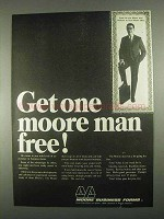 1967 Moore Business Forms Ad - One Moore Man Free