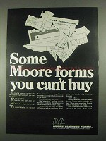 1967 Moore Business Forms Ad - Forms You Can't Buy