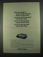 1967 Executone Intercom Ad - Some of the People