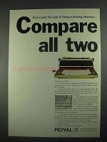 1967 Royal 660 Typewriter Ad - Compare All Two