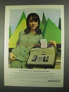1967 Monroe Epic 3000 Electronic Printing Calculator Ad