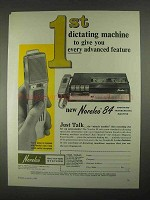 1967 Norelco 84 Dictating-transcribing Machine Ad - 1st