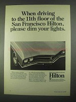 1967 Hilton Hotels Ad - Please Dim Your Lights