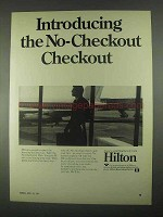 1967 Hilton Hotels Ad - No-Checkout Checkout