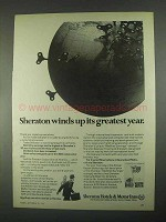 1967 Sheraton Hotels Ad - Winds Up Its Greatest Year