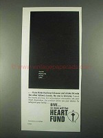 1967 Heart Fund Ad - You're Whistling in the Dark
