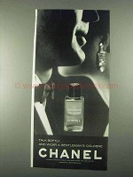 1967 Chanel A Gentleman's Cologne Ad - Talk Softly