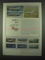 1967 UOP Universal Oil Products Ad - Pick a Jet