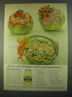 1967 Hellmann's Mayonnaise Ad - Real Cool Coleslaws