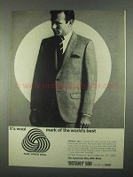 1967 Botany 500 Glen Plaid Suit Ad - It's Wool