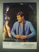 1967 Van Heusen Shirts Ad - Blue Shirt with Red Blood