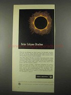 1967 Sandia Laboratories Ad - Solar Eclipse Studies