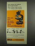 1967 Wild Heerbrugg M-20 Research Microscope Ad